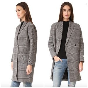 Madewell Donna Plaid Cocoon Coat